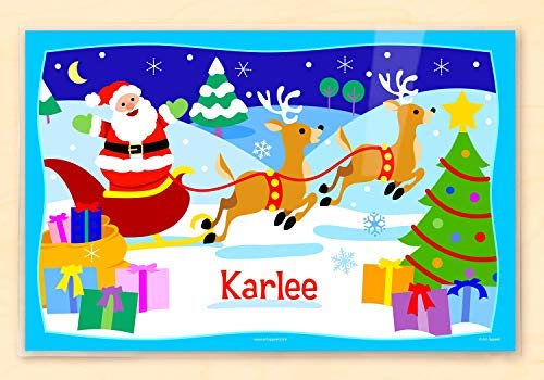Olive Kids Personalized Santa Claus Christmas Placemat (Placemats Personalized Christmas)