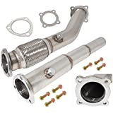 """3"""" Performance Turbo Exhaust High Flow Down Pipe For Volkswagen Vw Jetta Beetle Golf 1.8T"""