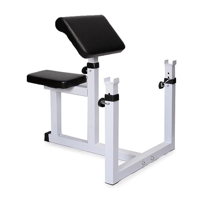ubrtools comercial Preacher Curl peso banco sentado - Banco de aislado mancuernas bíceps: Amazon.es: Deportes y aire libre