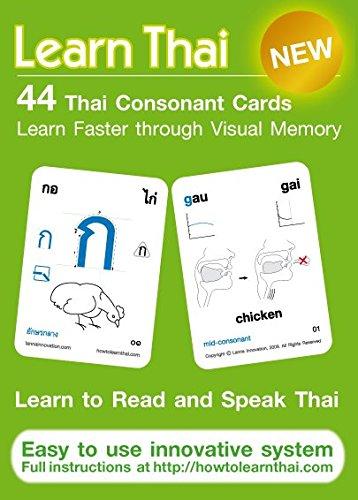 Learn Thai: Thai Consonants - 44 Flash Cards (Thai Language)