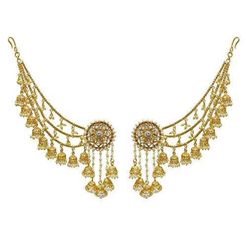 Babosa Sakhi Bahubali Earring Detachable kaan Sahara Jhumki Jhumka chain
