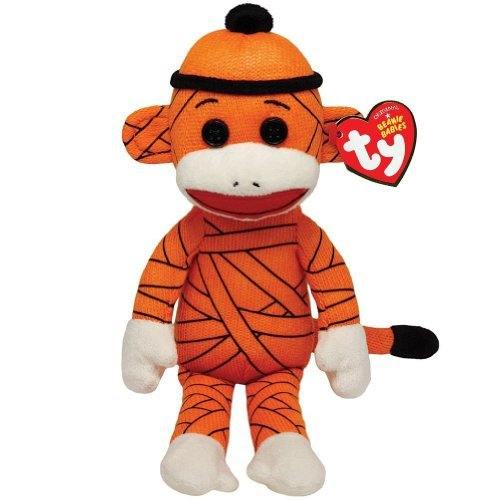 Halloween Sock Monkey - Ty Beanie Babies Sock Monkey -