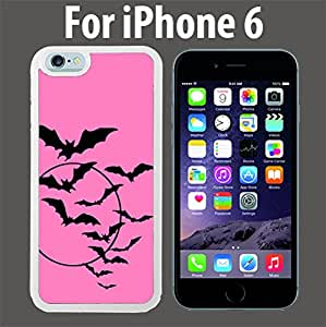 Bats Flying Pink Custom Case/ Cover/Skin *NEW* Case for Apple iPhone 6 - White - Plastic Case (Ships from CA) Custom Protective Case , Design Case-ATT Verizon T-mobile Sprint ,Friendly Packaging - Slim Case