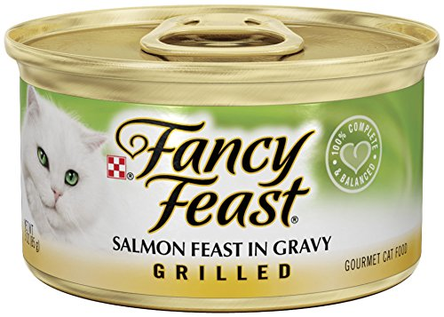 Purina Fancy Feast Grilled Salmon Feast in Gravy Cat Food - (24) 3 oz. Pull-top Can
