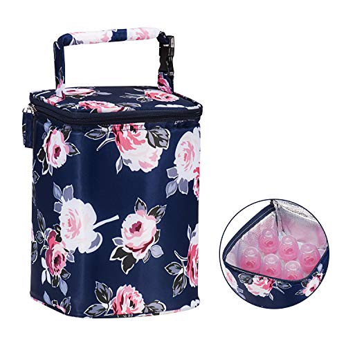 Momcozy Insulated Breastmilk Cooler and Baby Bottle Bag, Fit Up to 6 bottles like Dr. Brown, 4 Large 8 Oz. Bottles like Comotomo, Philips Avent, Nuk, Lansinoh,etc