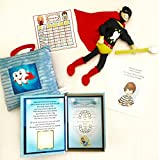 Hooray! I Lost My Tooth! Tooth Fairy Kit for Boys! Pillow, Book, Doll, tooth box, brushing chart