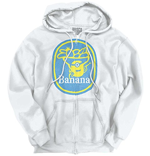 Banana Minion Parody Movie Funny Shirt | Cute Despicable Me Zipper Hoodie (Sweatshirt Minion Mens)