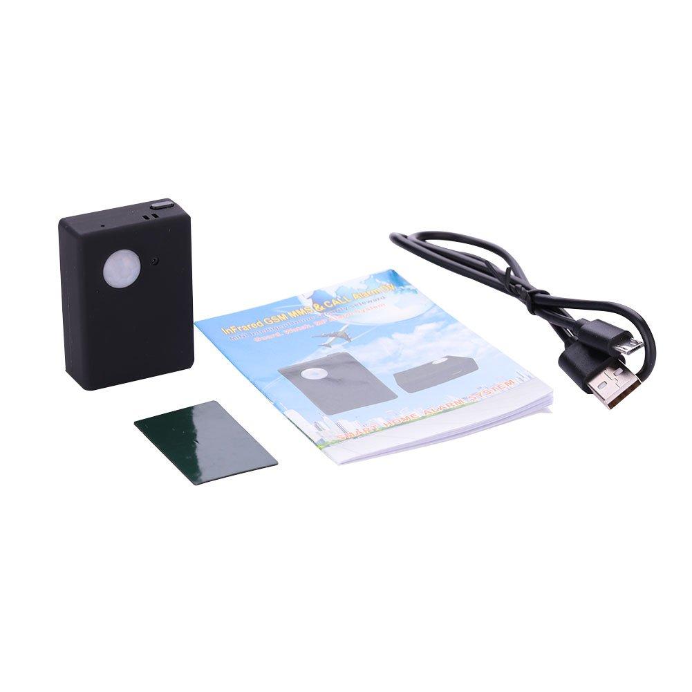 Hanbaili ワイヤレスPIR赤外線センサーモーション検出器GPS追跡デバイスホームセキュリティSurvellance GSM Locating Device Tracker B076J2TWJ6 16982