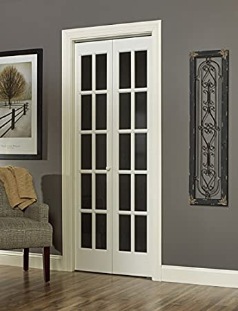 Pinecroft 852720wt Traditional Divided Glass French Bifold Intior