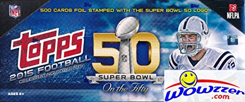 Super Bowl Limited Edition Football (2015 Topps Football VERY SPECIAL LIMITED EDITION 50th SUPER BOWL Complete 500 Card Factory Set! Every Card has EXCLUSIVE 50th Super Bowl Logo! Loaded with RC's Jameis Winston, Marcus Mariota & More!)
