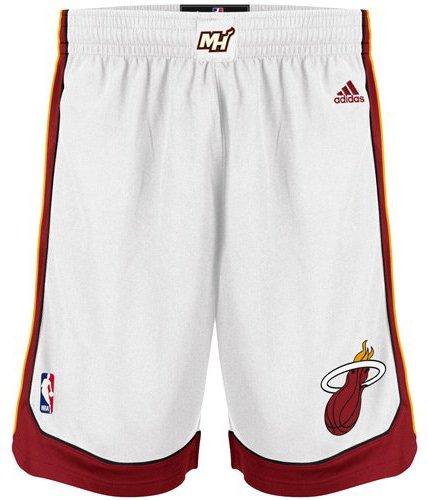 NBA adidas Miami Heat Swingman Shorts - White (Large)