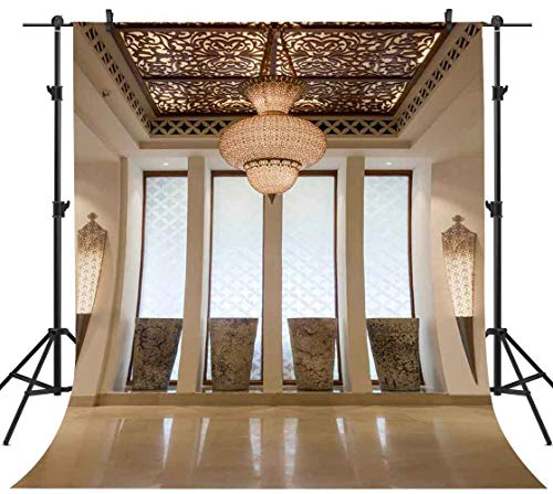 FHZON 5x7ft Luxury Villa Interior Backdrops Photography Chandelier Wall Lamp Background Themed Party Photo Video Studio Props LXFH557