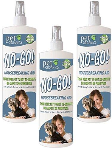 (3 Pack) Pet Organics (Nala) No-Go Housebreaking Aid Dog Spray, 16-Ounce Each by Pet Organics