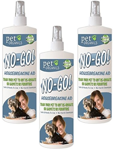 (3 Pack) Pet Organics (Nala) No-Go Housebreaking Aid Dog Spray, 16-Ounce Each