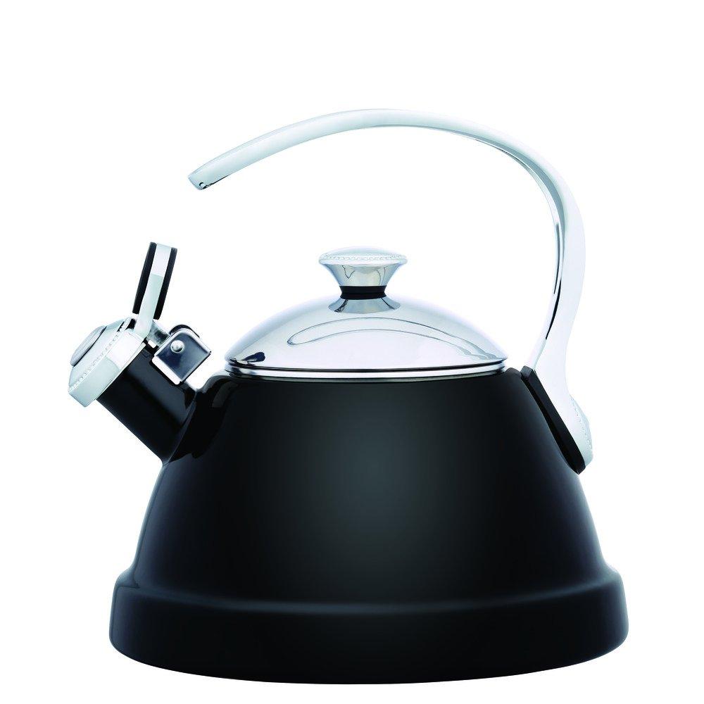 Copco 5216621 Beaded Enamel-on-Steel Tea Kettle, 2-Quart, Black