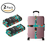 YEAHSPACE 2-Pc Sushi Lover Gift Love Luggage Strap Set NON-SLIP With TSA Combination Lock For Travel