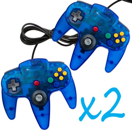 Pan Am Costumes For Sale (2 New Clear Blue Controller Joystick Pad for Nintendo N64 System Game Gaming Handle Long)