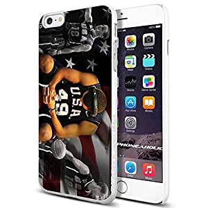 Basketball NBA Golden State Warriors Stephen Curry USA, Cool iPhone 6 Plus (6+ , 5.5 Inch) Smartphone Case Cover Collector iphone TPU Rubber Case White