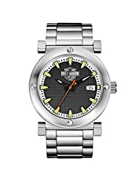 Bulova 76B165 Timepieces Men's Quartz Analog Watch with Black Dial and Stainless Steel Bracelet