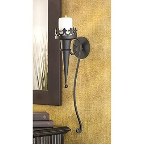 Amazon.com: Gifts & Decor Gothic Candle Torch Wall Pillar Home ...