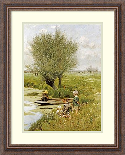 Framed Wall Art Print | Home Wall Decor Art Prints | by The Riverside by Emile Claus | Country Rustic Decor
