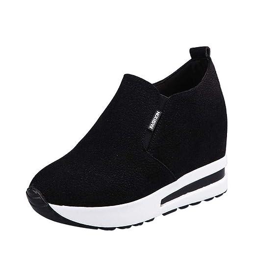 Yesmile Zapatos de mujer❤️Zapatos de tacón Ocultos de otoño para Mujer Zapatos Slip-on Zapatos de Viaje Casuales Casual Planos Loafers, Adecuado para ...