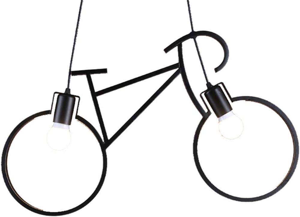 MEIYANG Candelabros Estilo Europeo Retro Industrial Bicicleta Colgante Luces Simple LED para Cocina Restaurante Bares Negro: Amazon.es: Hogar