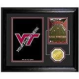 The Highland Mint NCAA Virginia Tech Hokies Fan Memories Bronze Coin Desktop Photo Mint, 22'' x 15'' x 4'', Bronze