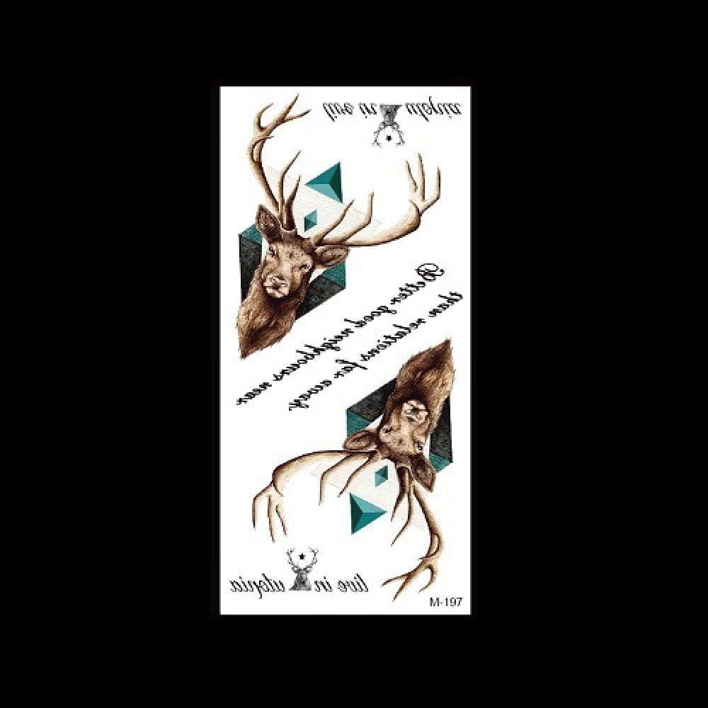 1 piezas pegatinas de tatuaje pegatinas de tatuaje animal cabeza ...