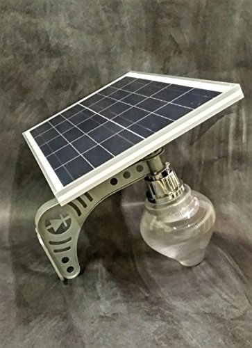2 pack Unique REAL SOLAR PANEL Patio Safety and Security Lamp 2 Pack Residential or Commercial 1600 Peak Lumens