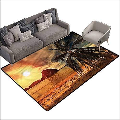 Floor Mat Home Decoration Supplies Ocean,Havana Seashore Sunny 60