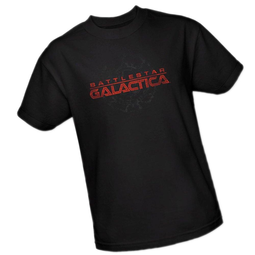 Battered Logo Battlestar Galactica Adult Tshirt