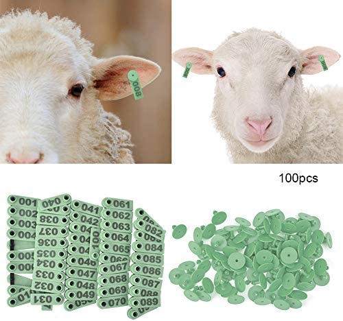 100Pcs Goat Sheep Pig Cattle Beef Plastic Livestock Ear Tag Number Tags O ed