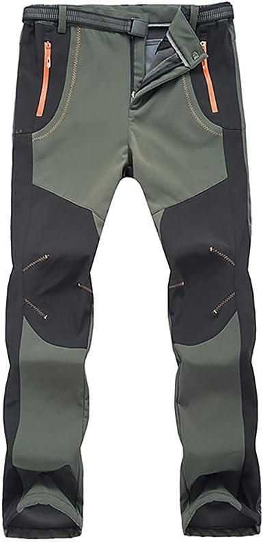 Okay Hombres Impermeable Fleece Forrado Senderismo Pantalones Invierno Cálido Caminar Escalada Pantalones De Pesca Pantalones De Carga