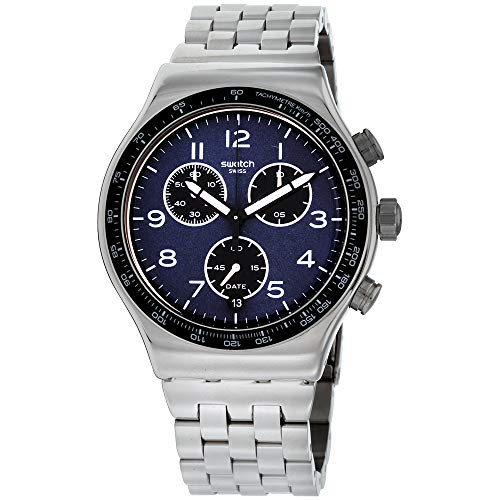 - Swatch Irony Boxengasse Blue Dial Stainless Steel Men's Watch YVS423G