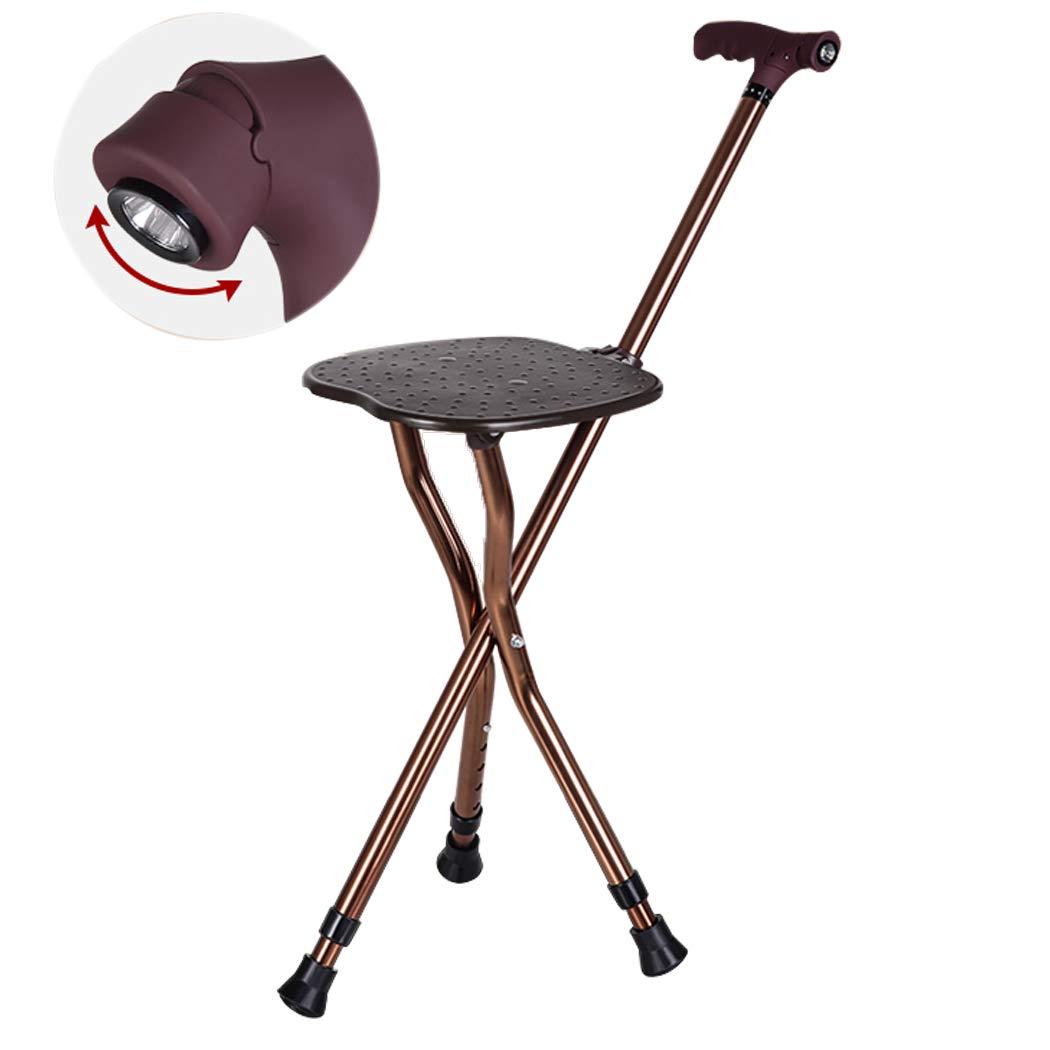 若者の大愛商品 YGUOZ 携帯型 Coffee 折りたたみ 5 杖椅子、LED ライト回転、ステッキ椅子 color ステッキ 5 高さ調節可能、杖 母の日 父の日 敬老の日 プレゼント,Coffee color Coffee color B07PBBJRXS, 大きいサイズの店ビッグエムワン:995ae0e4 --- a0267596.xsph.ru