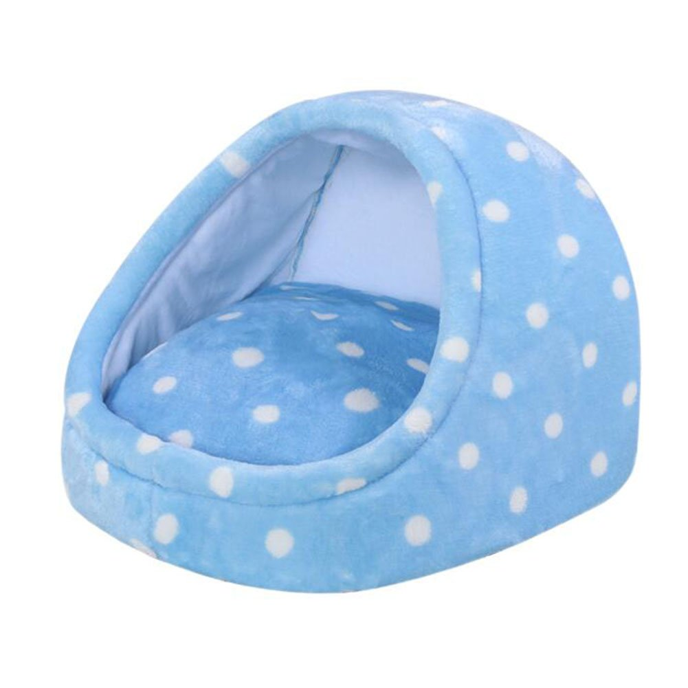 bluee Small bluee Small WW-XX Four Seasons Universal Small And Medium-sized Dog Cat Fossa Pet Pad Pet Supplies (color   bluee, Size   S)