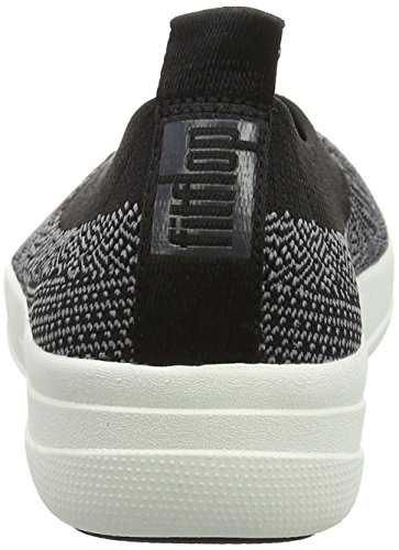 Fitflop Womens Uberknit Ballerina Walking Instapper Zwart / Charcoal