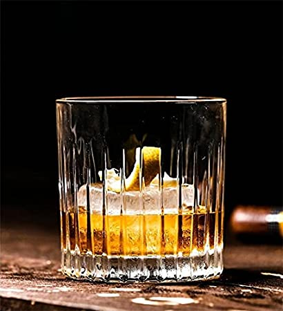 PPuujia Copa de Vidrio 2 unids por Unidad 10oz / 300ml Whisky Glass Scotch Glasses Rocks Cristal En Forma de Cristal Castre Castre Lazo Vaso Whisky (Color : 2PCS 450ml)