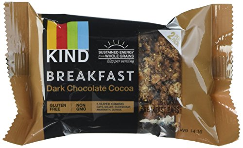 KIND Breakfast Bar Dark Chocolate Cocoa, 4 ct of 2 breakfast bars, 7.1 Oz