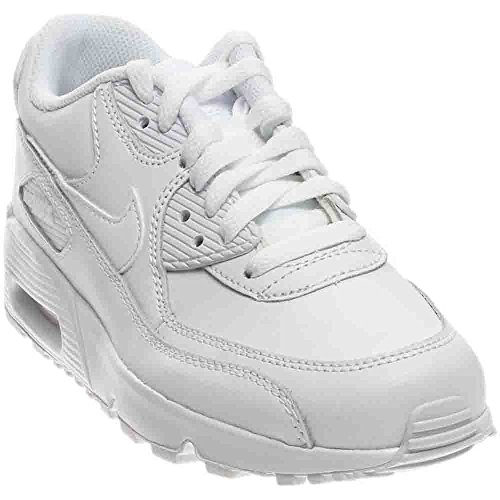 timeless design 40c9f 43088 Galleon - Nike 833412-100 Kid s Air Max 90 Leather Running Shoes,  White White, 5.5 M US Big Kid