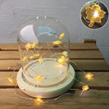 2 Set Of 30-LED Copper String Light, Led String Light Battery Operated Decorative Lights For Bedroom Patio Parties – Orange Maple Leaves