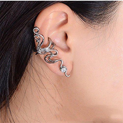 Fashion 1PC Punk Exaggeration Crystal Rhinestone Wrap Ear Cuff Clip Stud Earring ERAWAN ()