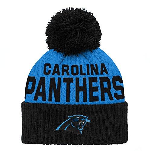 Carolina Panthers Pom Hat. Outerstuff NFL Carolina Panthers Jacquard Cuffed  Knit ... 40a4b7794
