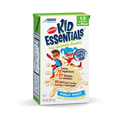 (Boost Kid Essentials 1.5 Nutritionally Complete Drink, Vanilla Vortex, 8 Ounce, Pack of 27)