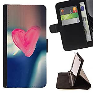 DEVIL CASE - FOR Apple Iphone 6 - Pink Candy Heart - Style PU Leather Case Wallet Flip Stand Flap Closure Cover