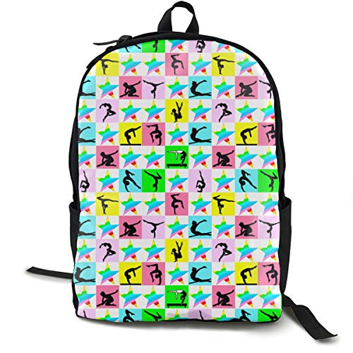 6f280279dba3 DailyTllo Fierce Gymnast Travel Computer Bag Laptop Backpack Unisex, School  College Fits 15'' Laptop