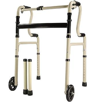 B WALKER Andador Plegable, con polea Ancianos, Andador ...