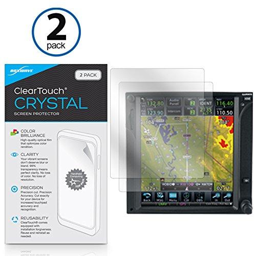 Garmin GTN 750 Screen Protector, BoxWave [ClearTouch Crystal (2-Pack)] HD Film Skin - Shields from Scratches for Garmin GTN 750