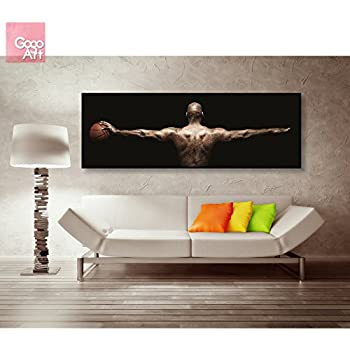 gogoart roll canvas print wall art home decor picture photo big poster abstract modern no - Michael Jordan Wings Poster Framed